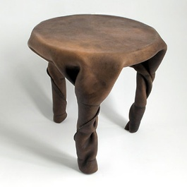 'Twist Stool' by Simon Hasan acquired by the Museum of Leathercraft, September 2014.