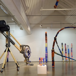 Thread Wrapping Architectures at Steneby Konsthall, 2014.
