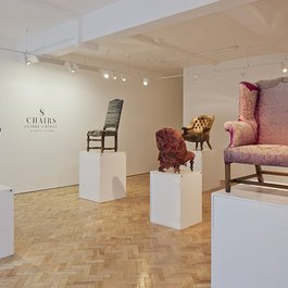 '8 Chairs' by Clarke & Reilly at Gallery Libby Sellers. Photography by Ed Reeve