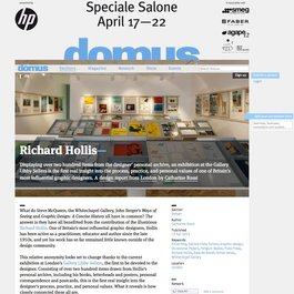 Review of 'Richard Hollis' on Domusweb.it, April 13, 2012