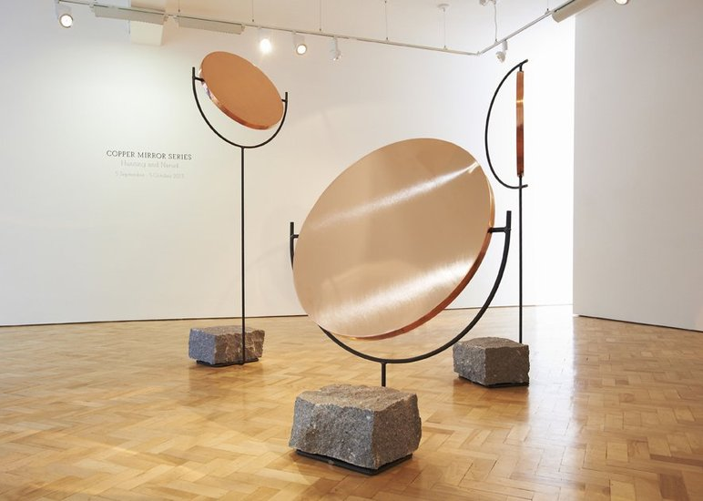 <p><strong>Hunting & Narud</strong>, The Copper Mirror Series at Gallery Libby Sellers, 2013</p><p>Photography by Gideon Hart<strong><br /></strong></p>